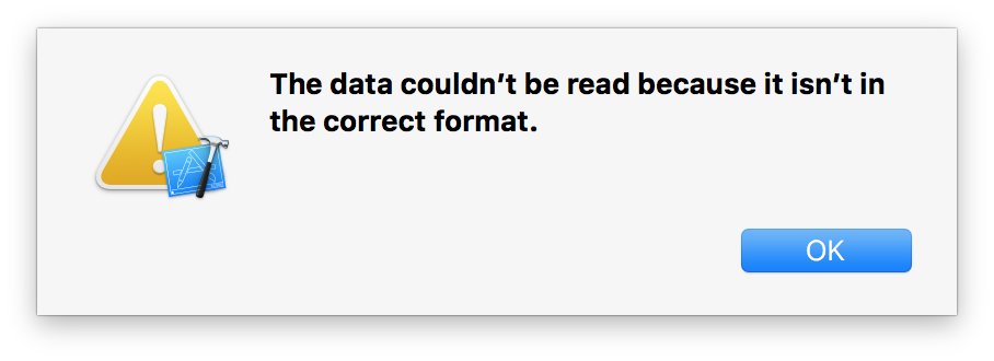 Data Couldn't Be Read